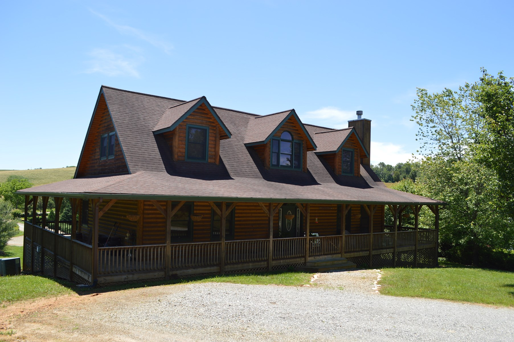 Nice Log Sided Home in Gated Community Alleghany County