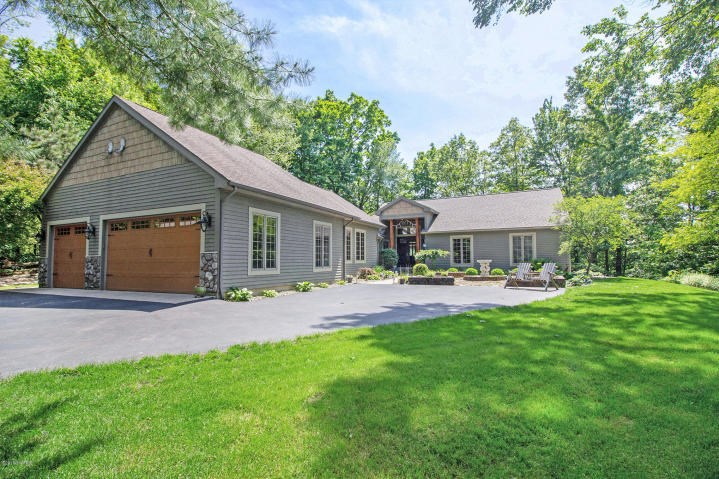Stony Lake home on 3.8 acres with stunning lake views