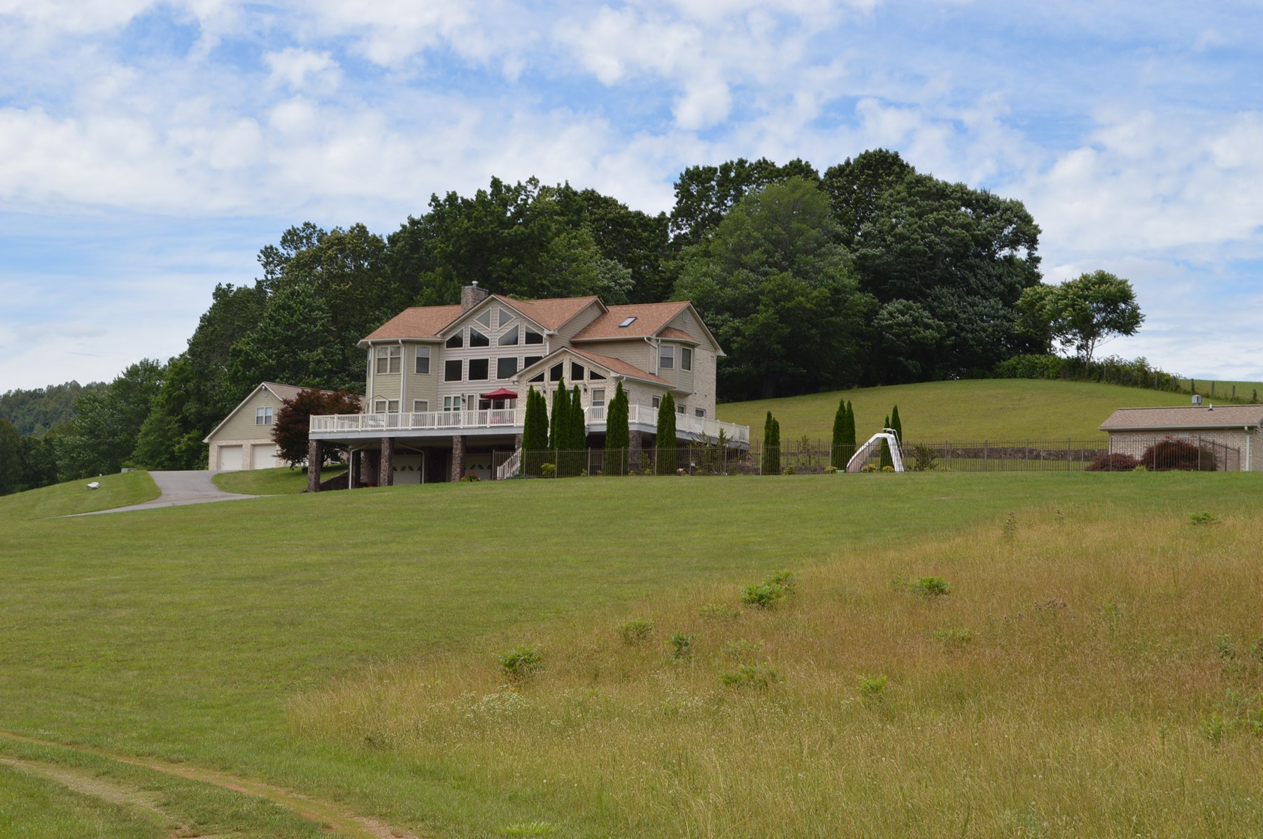 Beautiful Home for Sale on 73.6 Acres +/- Stuart Virginia
