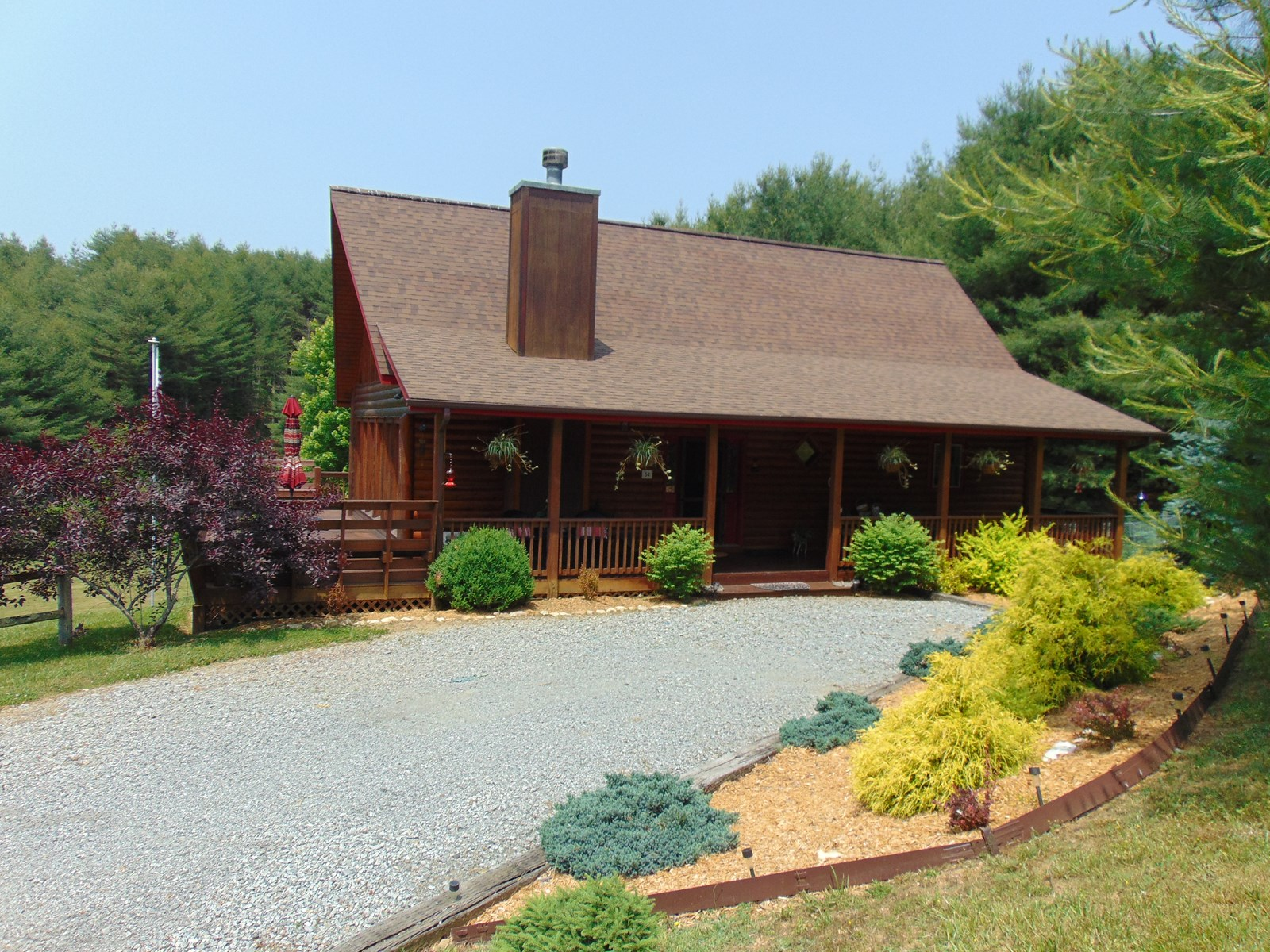 Beautiful Log Home For Sale in the Blue Ridge Mountains