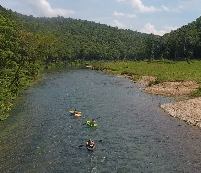 River Front Show Place in Southern Missouri Ozarks