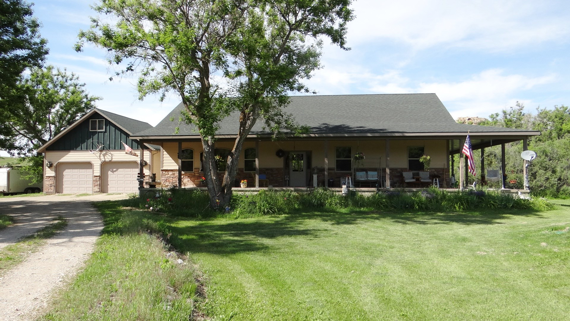 Montana Home with Warm Spring Creek Frontage For Sale