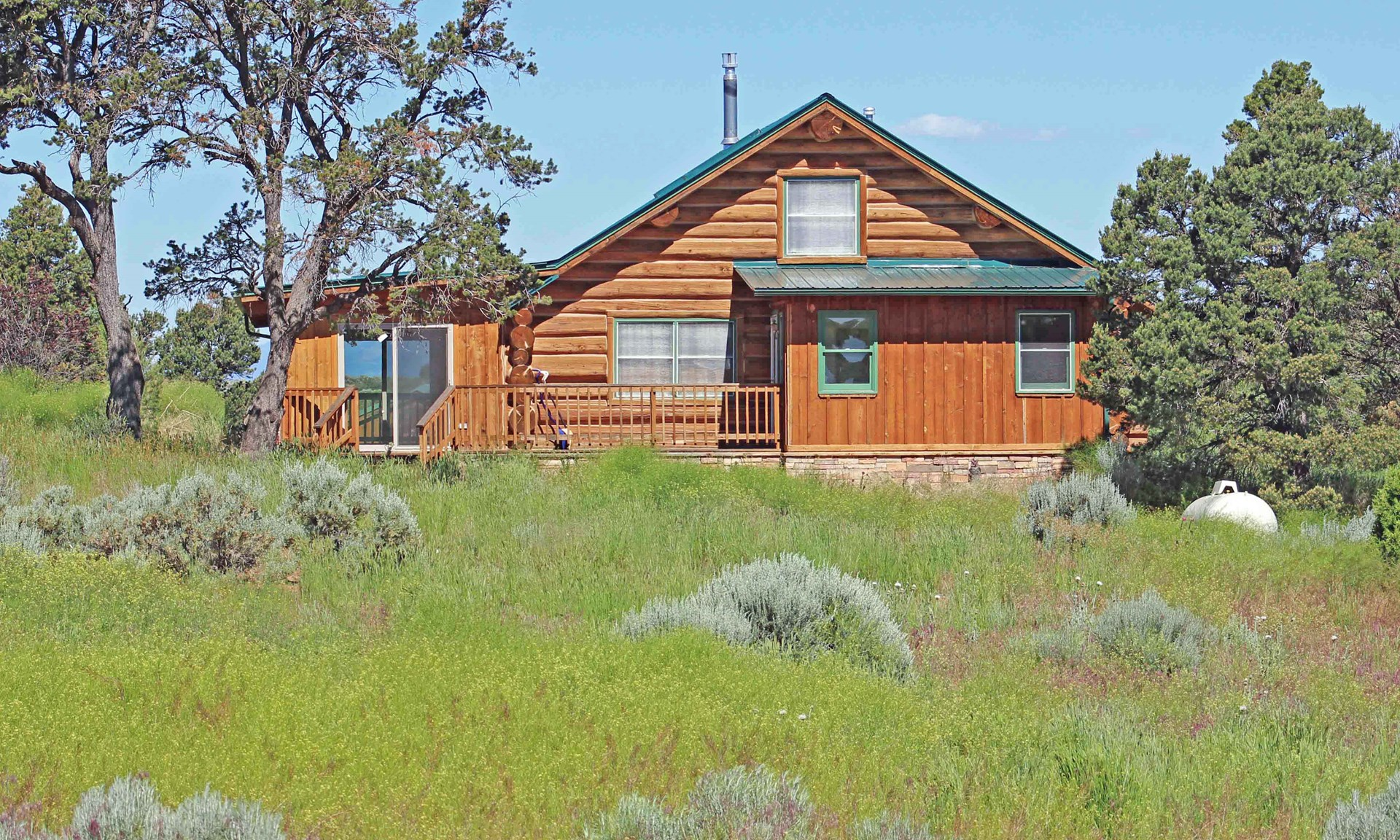 This Southwest Colorado log home is a wood-lover's dream.