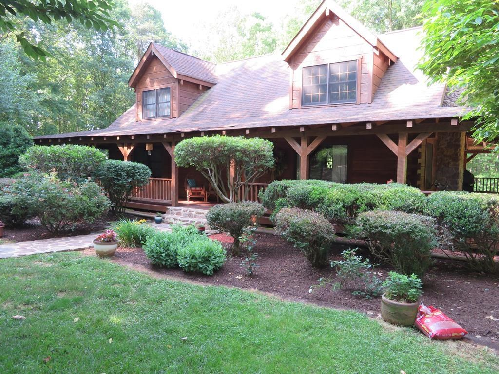 "Old Virginia ""Hand-Hewn"" Log Cabin/ 50+/- Acres: Chatham, VA"