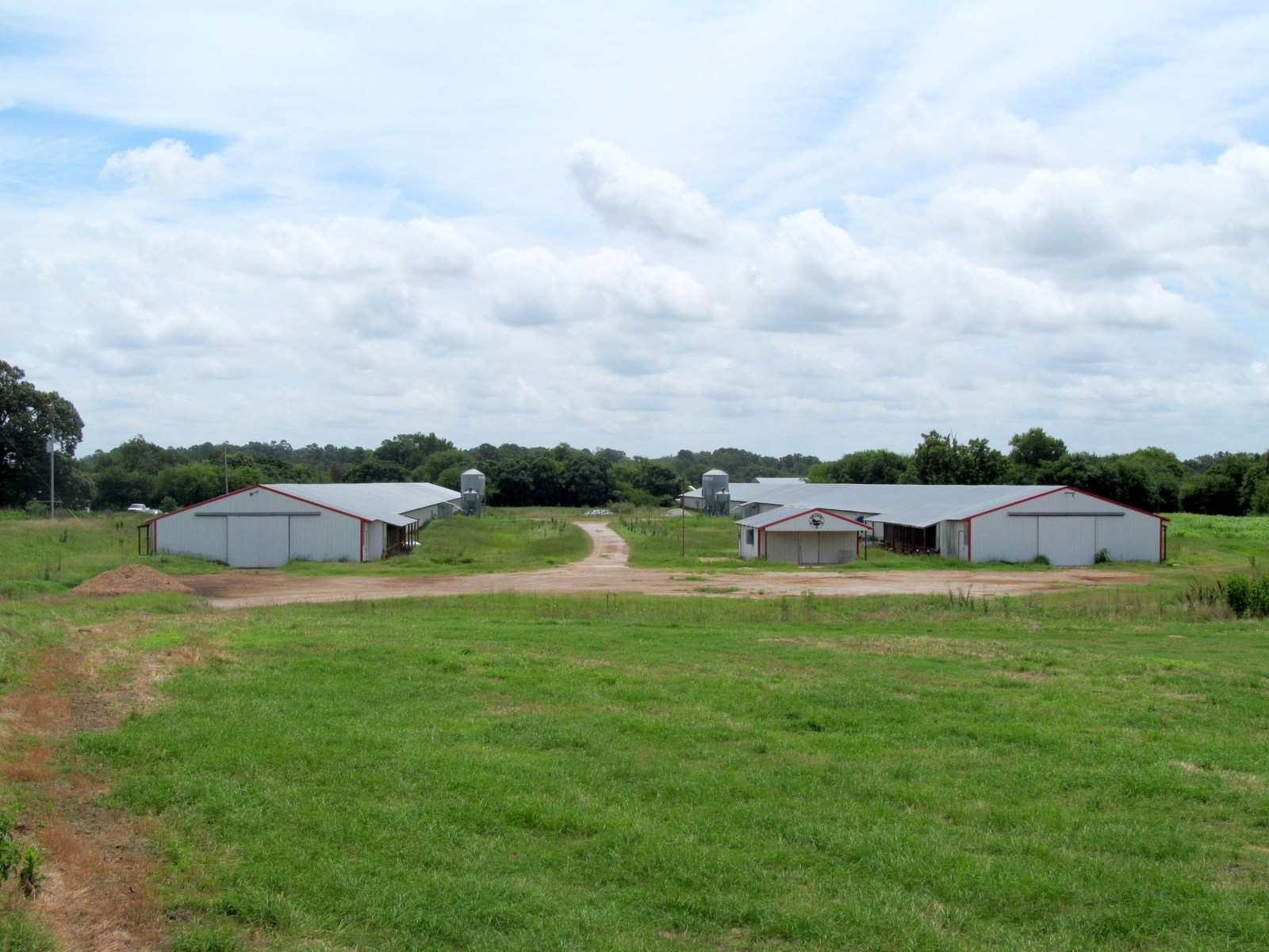 POULTRY FARM - 86 EAST TEXAS ACRES - 3 HOMES - SCROGGINS, TX