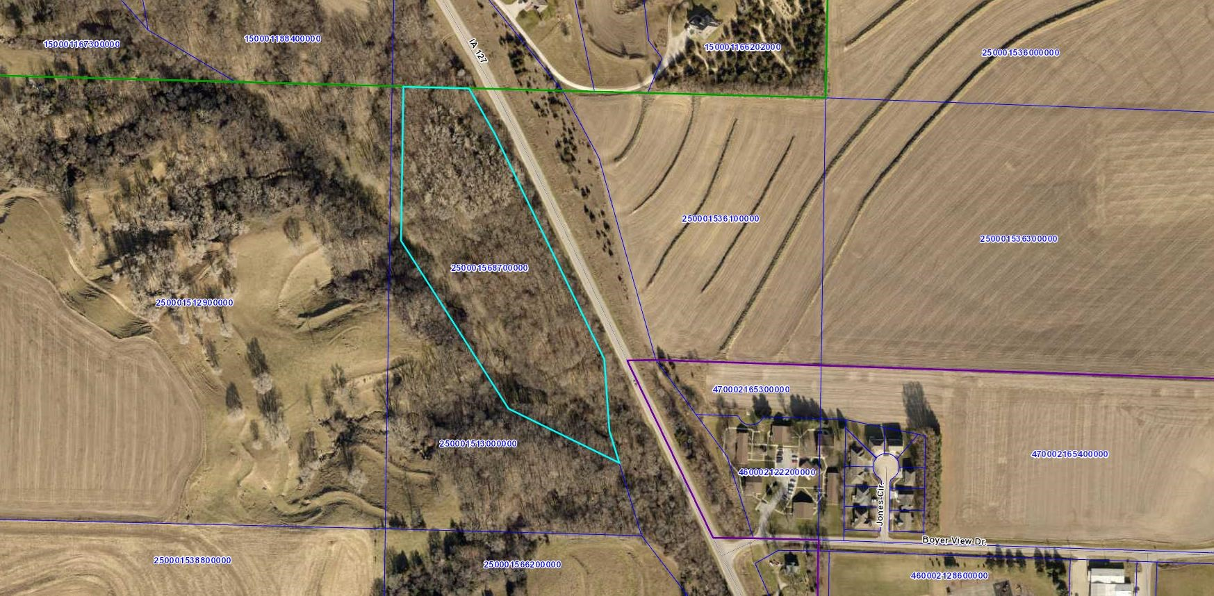 7.55 ACRE BUILDING SITE FOR SALE LOGAN IOWA