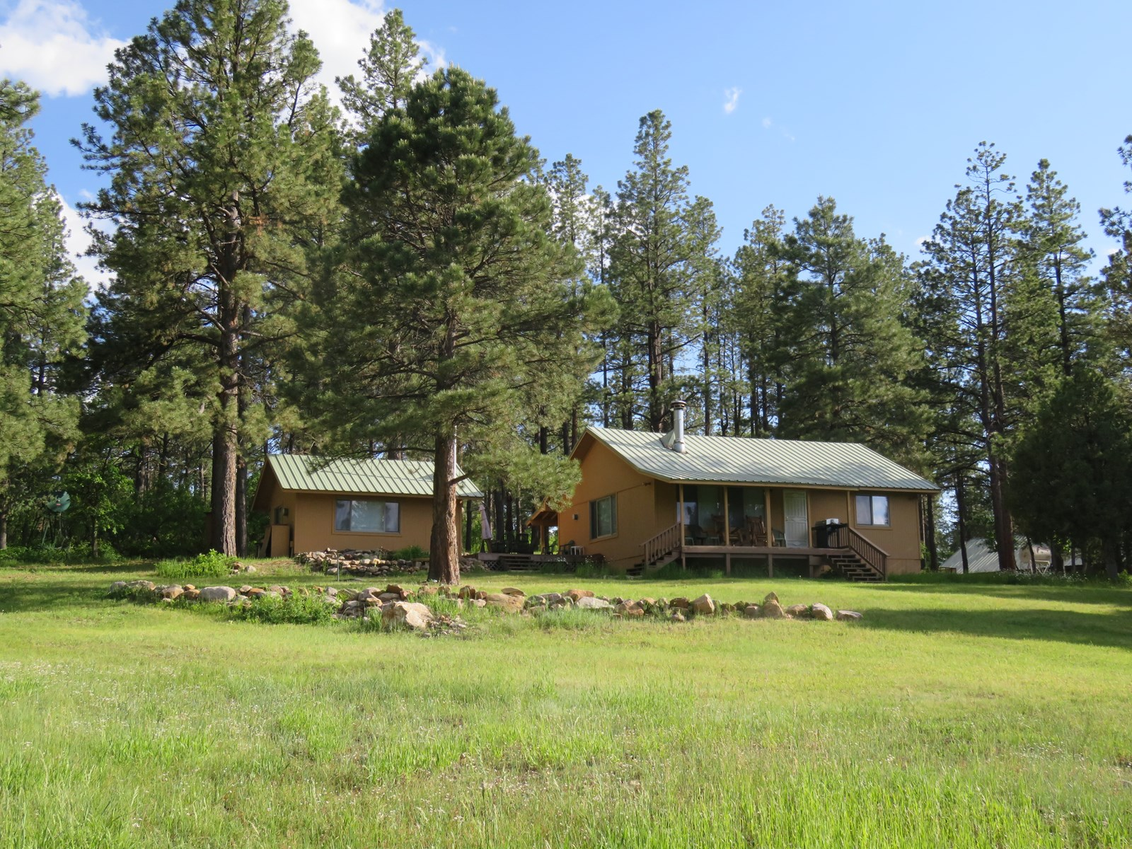 Chama NM Hunting Ranch for Sale with Cabin and Waterfront