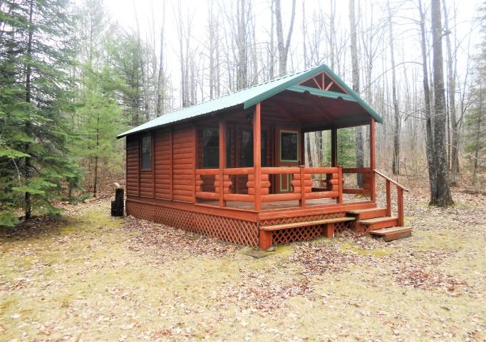 Private Log Cabin, Hunting on 10 Acres for Sale, Atlanta MI