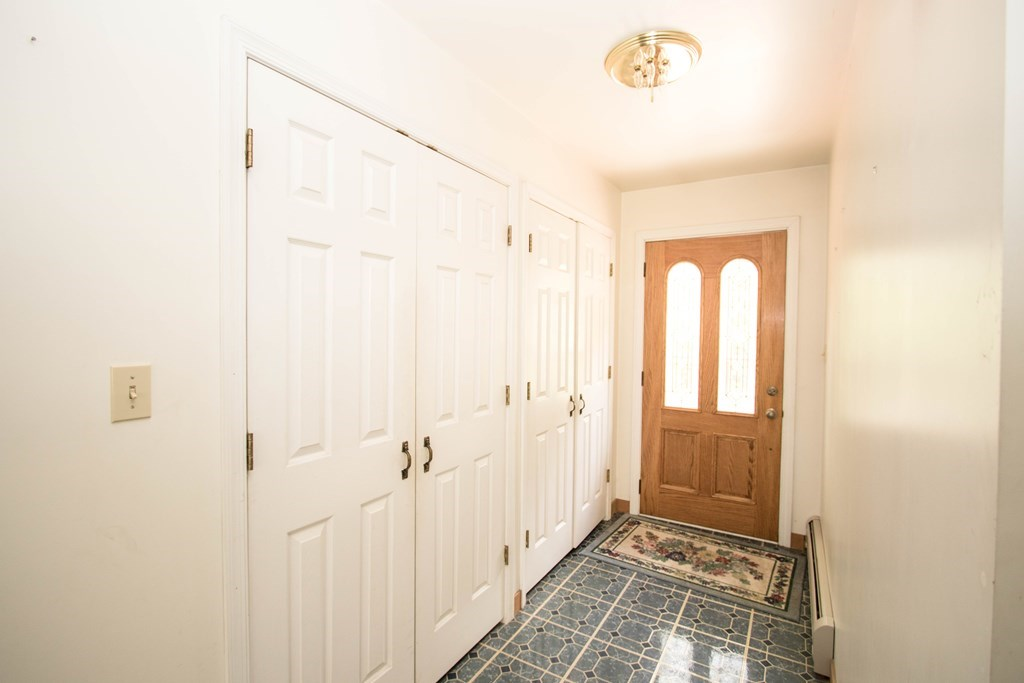 Entryway with spacious closets