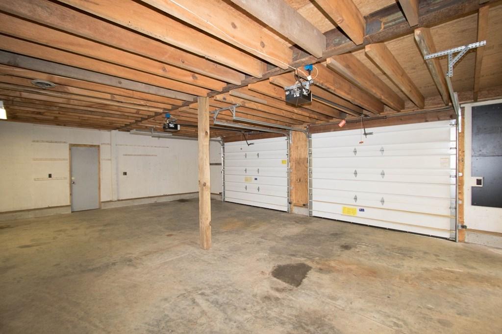 3 bay garage with workshop