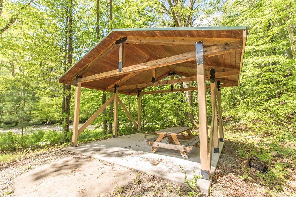 Private pavilion with electric hookup