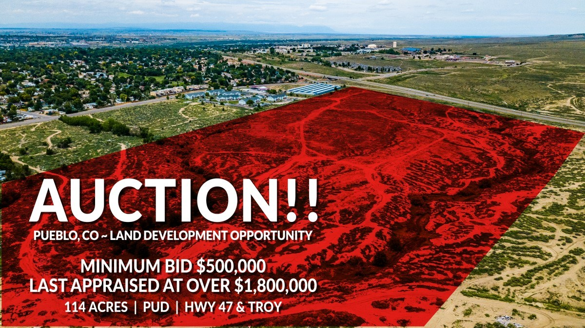 Prime Development Land Auction | Pueblo, CO