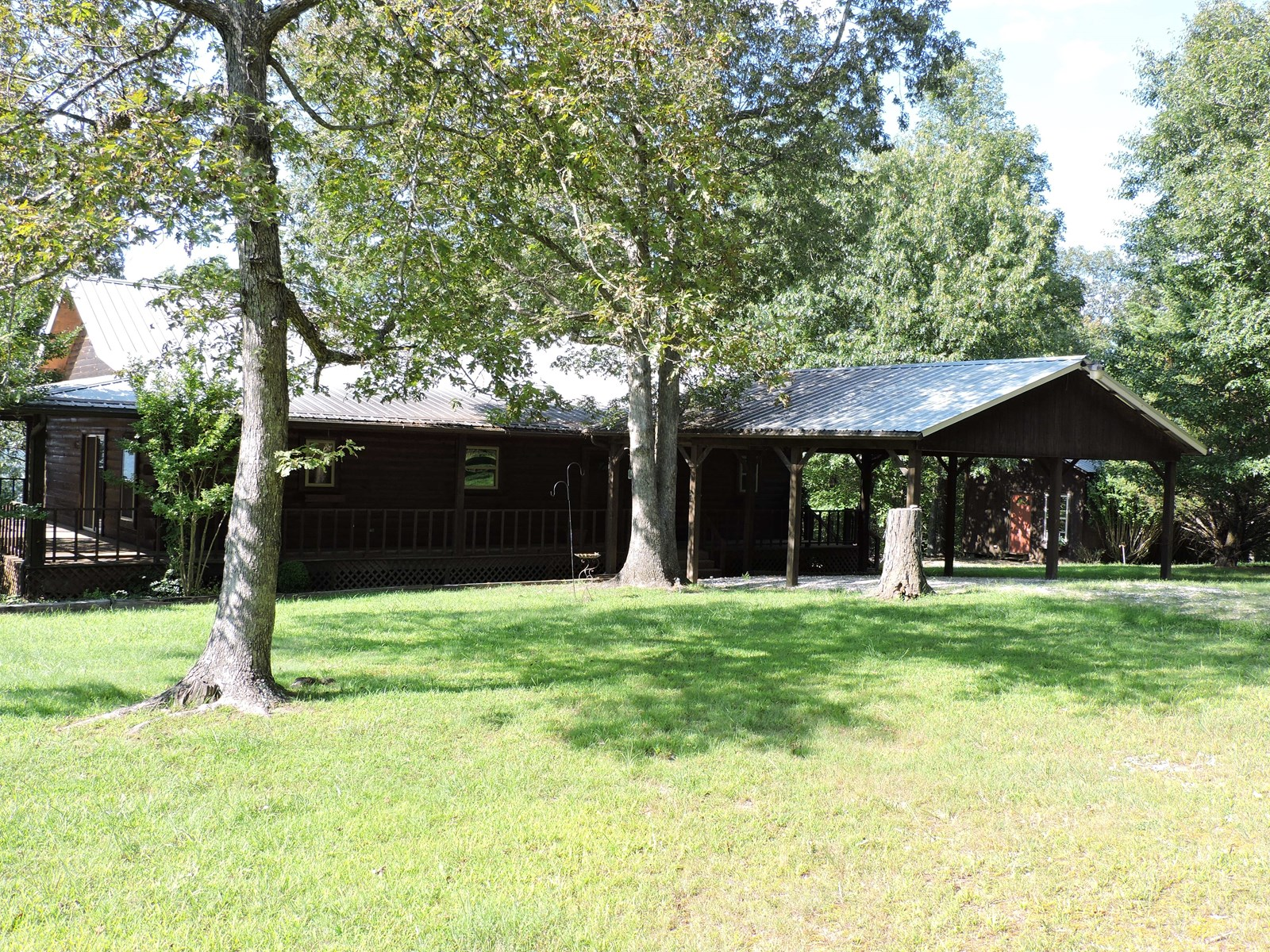 Mountaintop Log Cabin Home with acreage and Ozark Mtn Views