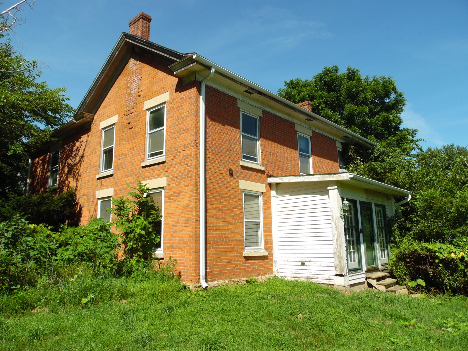 Historic 2 Story Brick Home on 10 Acres in Scales Mound, IL