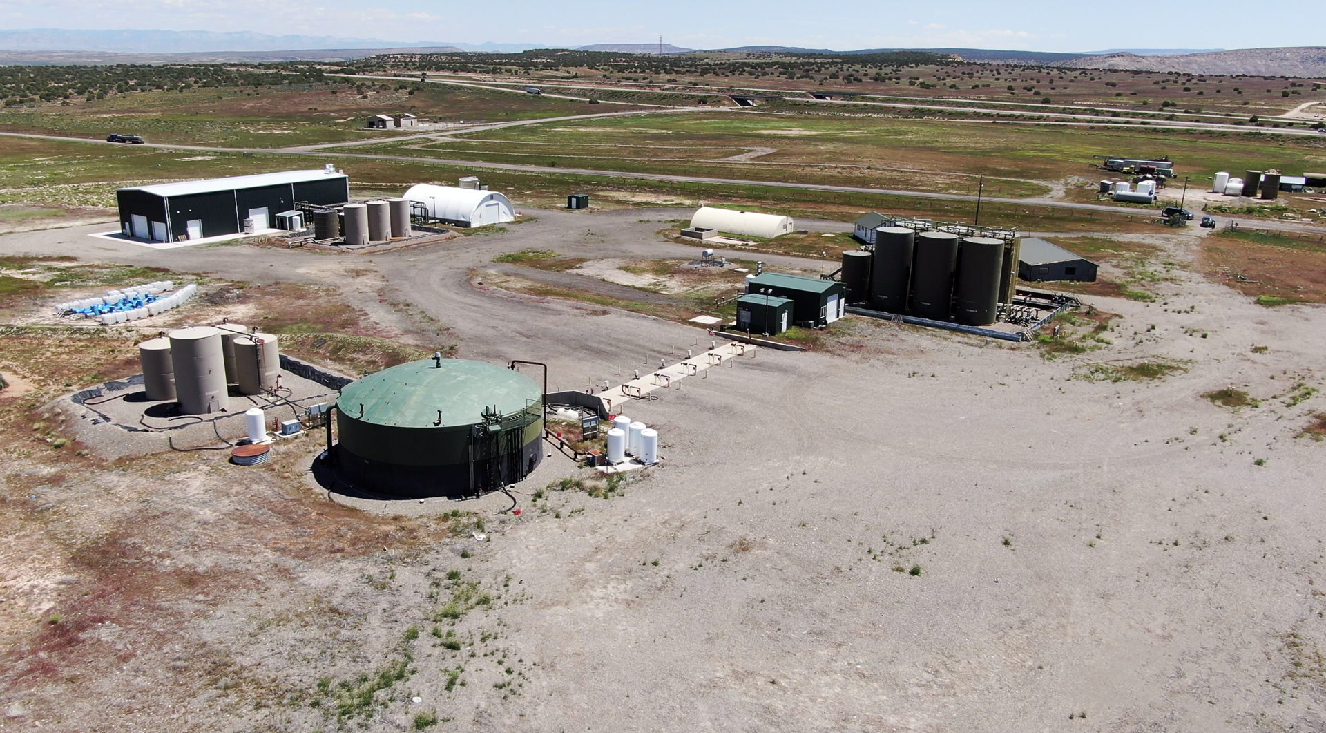 Utah fracking waste water treatment facility near I-70