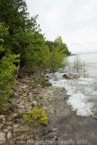 100 Ft. of Lake Huron shoreline. Just under a acre in size.