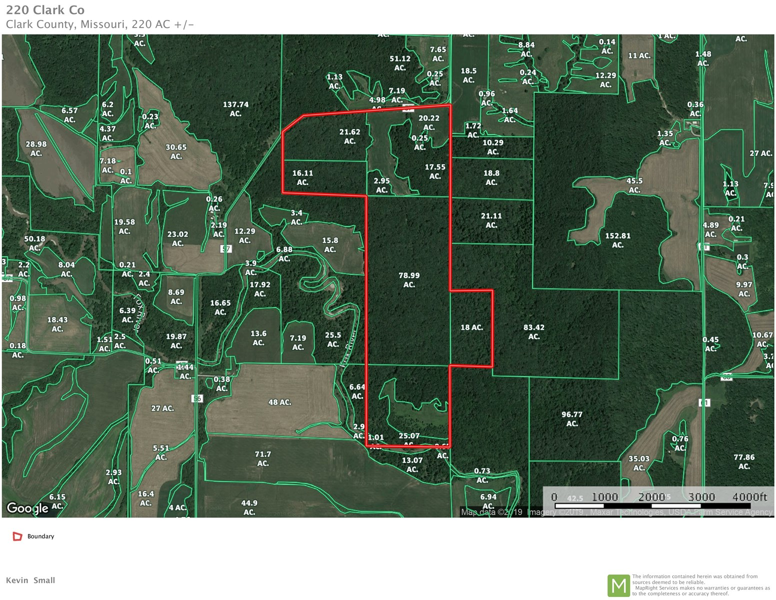 Mo Deer Hunting Land For Sale, Nemo Land Clark Co, Mo Timber