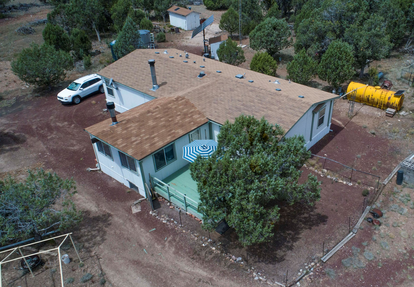 Off Grid Mountain Home / 1200 SF Garage/ 16- Acres