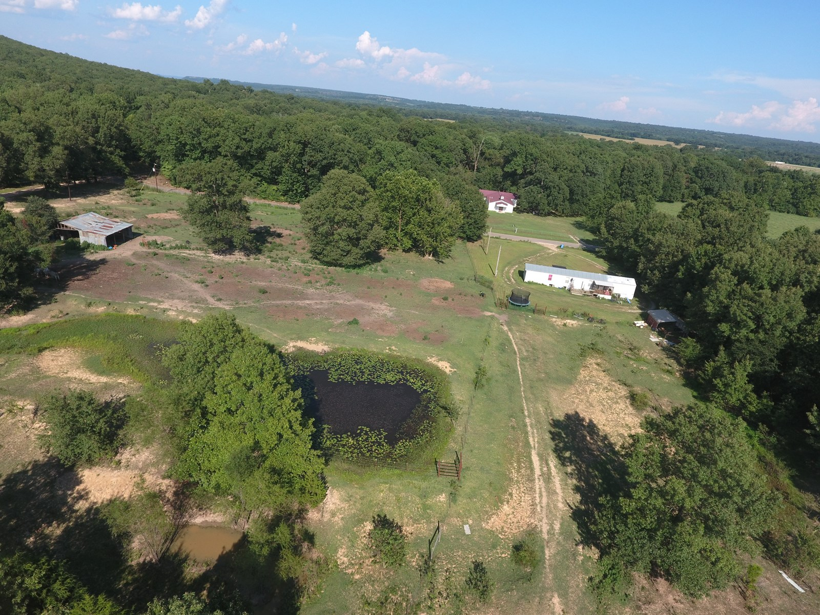 Oklahoma Hunting property with house for sale Muskogee Co.