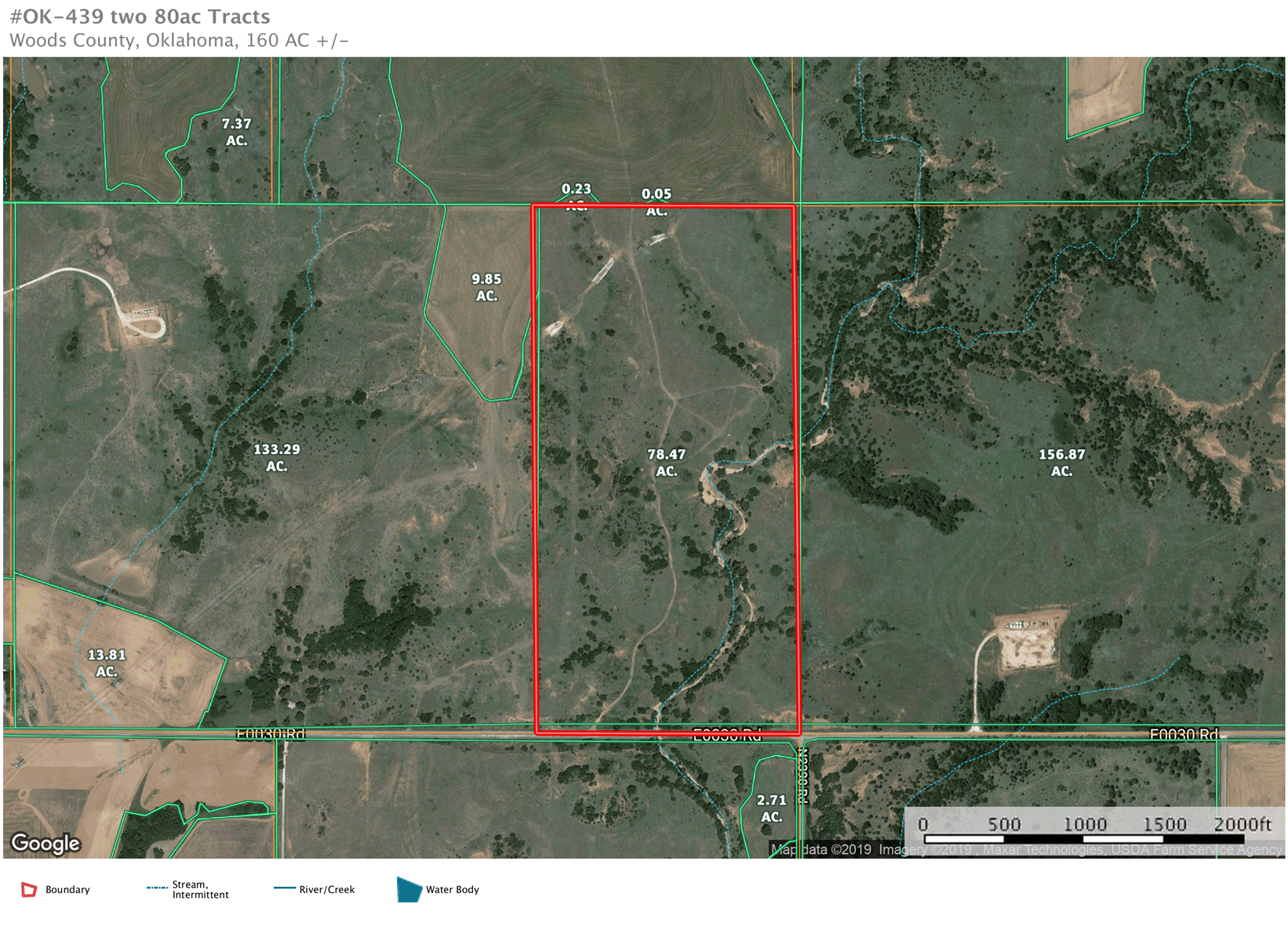 80 acres m/l. Woods County, Oklahoma Land