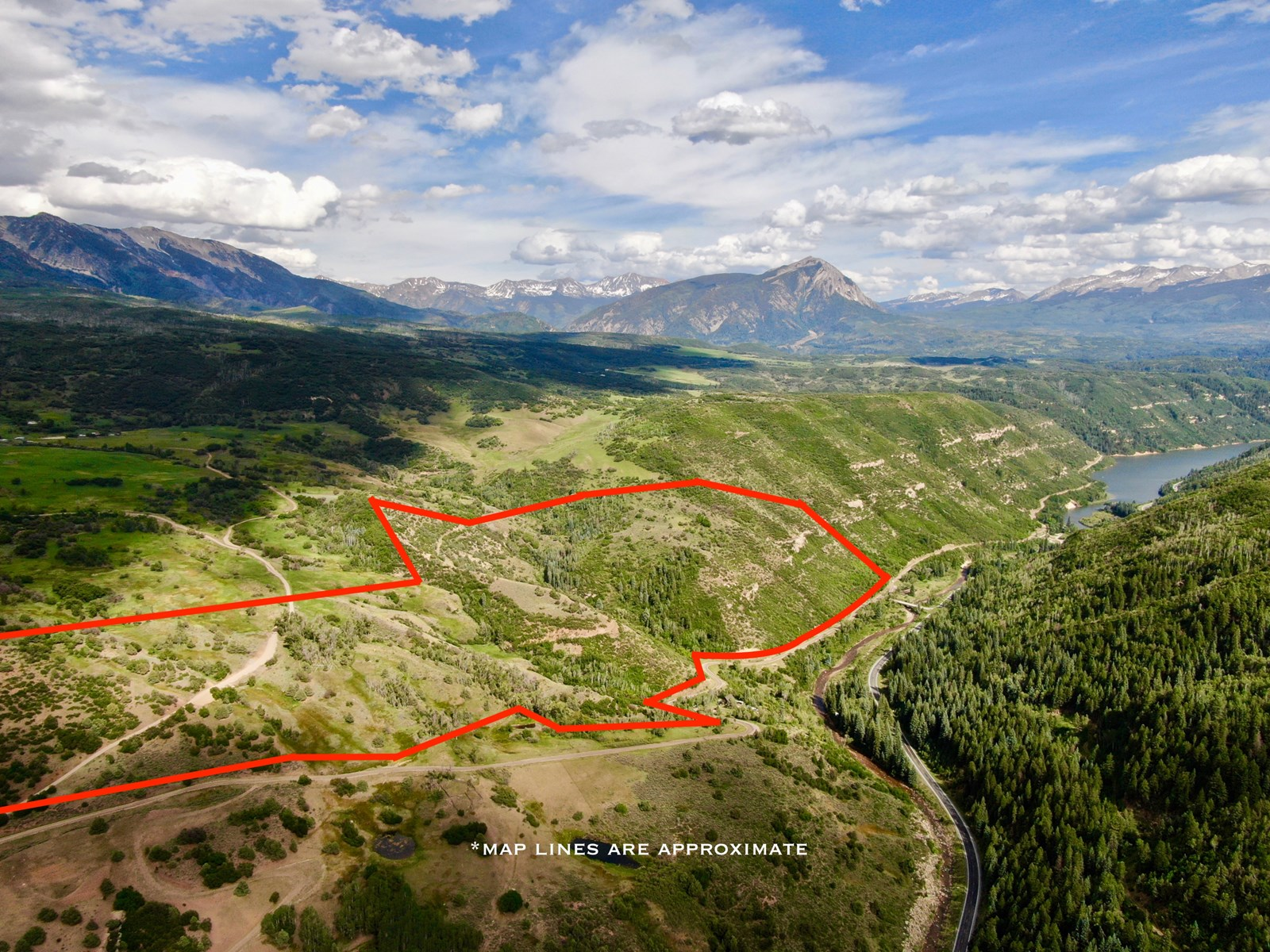 Mountain land for sale between Aspen and Crested Butte CO
