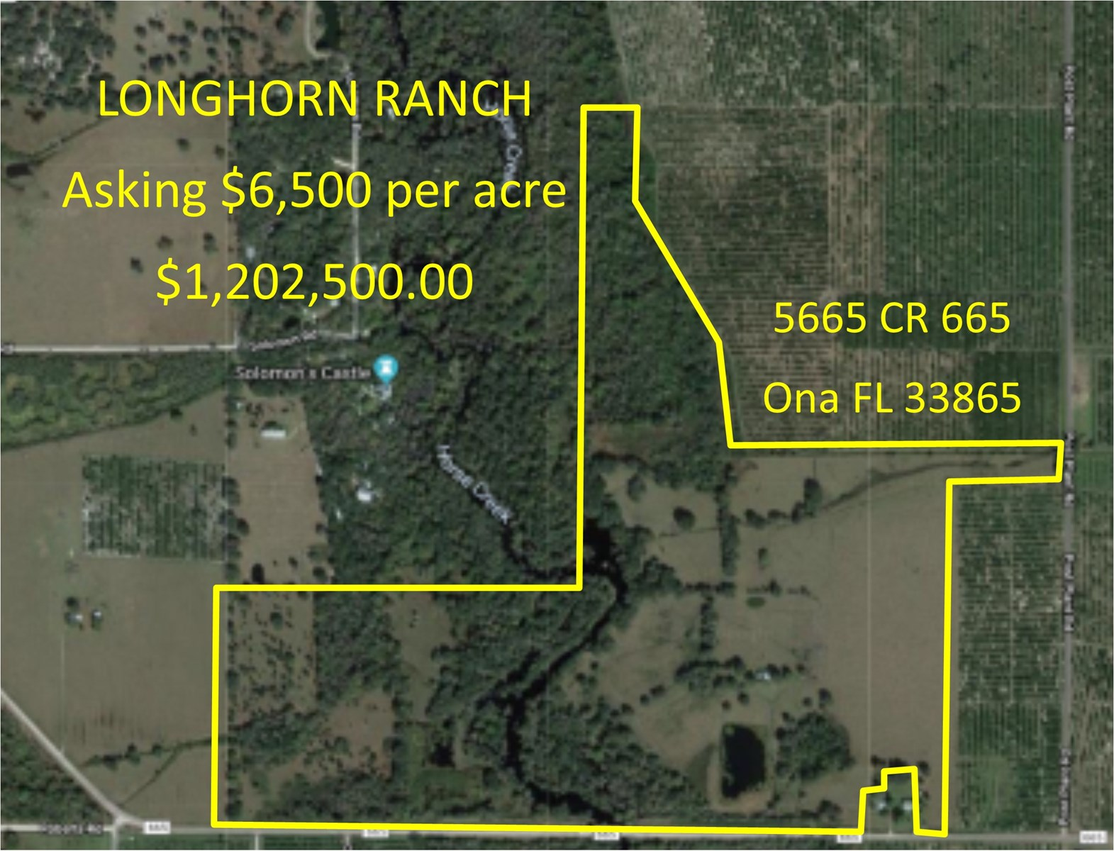 185+/- Acre Florida Hunting and Cattle Ranch for sale